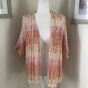 Chico's | Pink Knit Open Front Cardigan